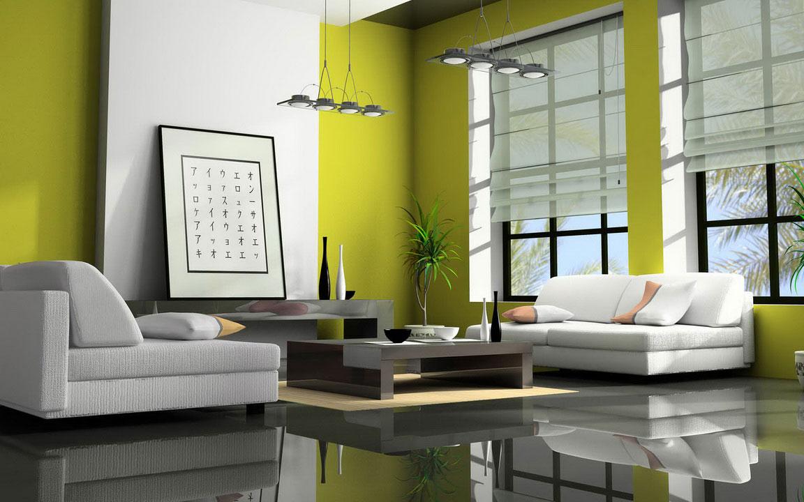 White-and-Green-Modern-Interior-Design-Ideas